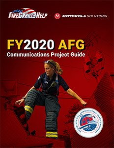 Download this free guide for AFG 2020 to learn everything you need to know about applying for communications equipment funding. (image/Motorola Solutions)
