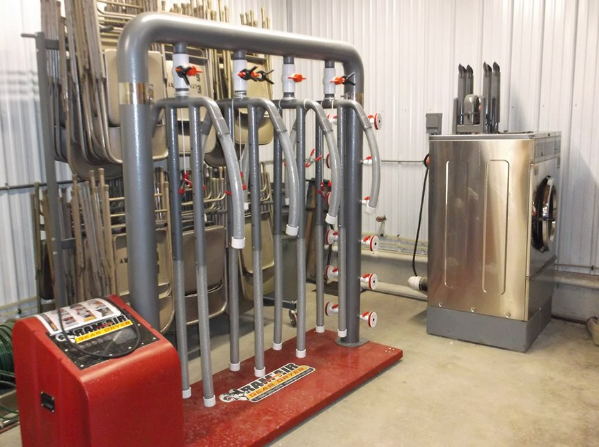 •With a combination of grant and local funds, Denmark Fire & Rescue purchased a gear dryer to help properly clean and maintain its PPE.