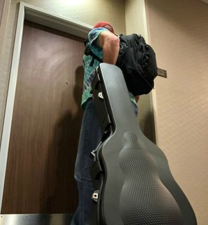 The Guitar Case from Savior Equipment totally handled my low-profile gun toting needs at the hotel. (Photo/Sean Curtis)