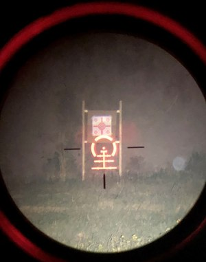 With the OWL and the Strike Eagle, I was able to discern and engage my target easily at 100 yards in total darkness.
