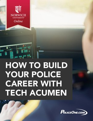 eBook cover: How to build your police career with tech acumen
