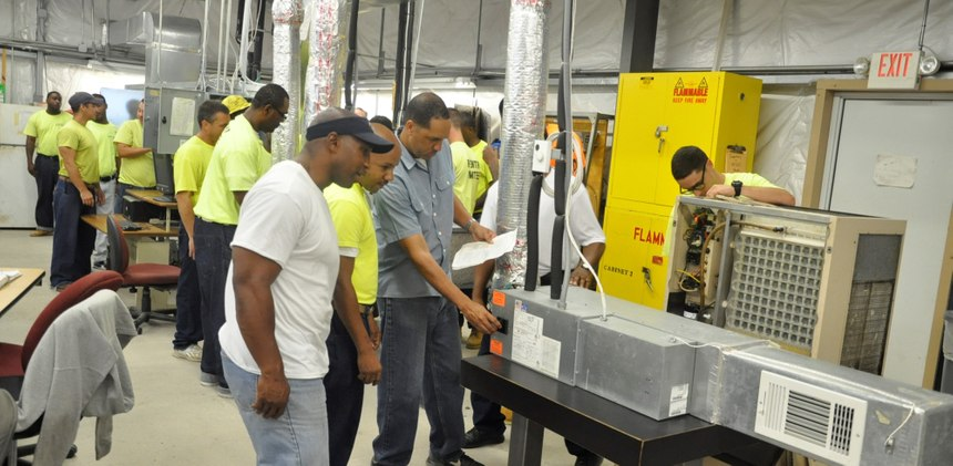 Inmate vocational training programs are helping to fill labor shortages in the HVAC industry.(Photo/Johnson Controls)