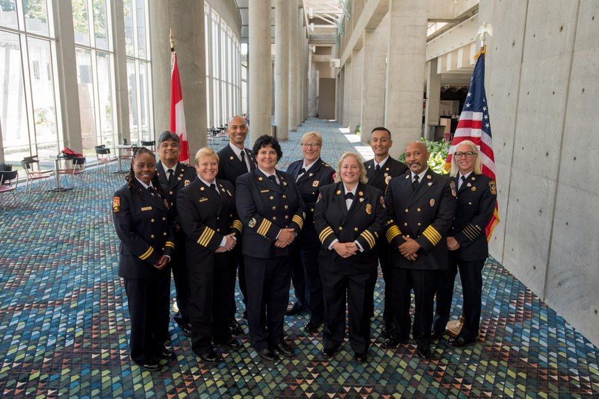 Chief Sommer (sixth from the left) was part of the first group of iDELP fellows, having just completed their two-year term in August 2019.