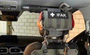 "The TT Head Rest IFAK uses the inclusive ""IFAK"" hook-and-loop patch for color-marked, attaching straps that can be accessed from either side. (Courtesy photo)"