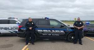 One short-term goal for the Alton Police Department was to re-brand the agency via new vehicle decals, new uniforms and new patches.