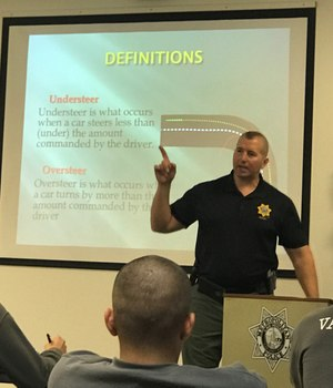 Training emphasized enforcement of the intersection crossing, seat belt and texting policies.