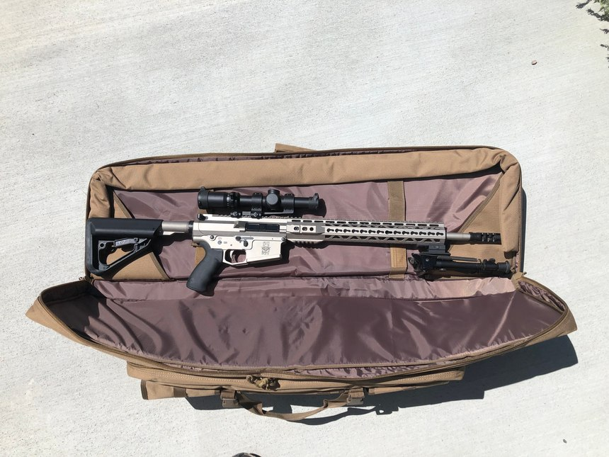 The rifle arrived secured in a Drago Gear case and in pristine condition.