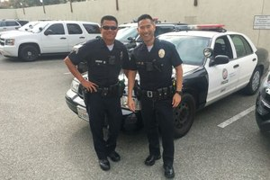 Kenji Inaba, right, with patrol partner Ryan Nguyen. (Photo/Courtesy of Kenji Inaba)