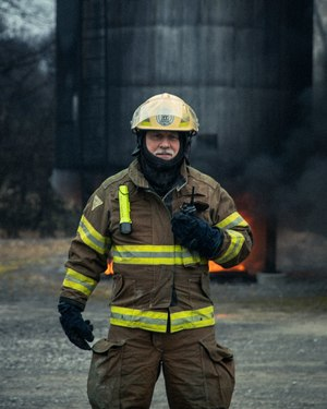 Jack Daniel's Fire Brigade Chief Fred Elliott – a fire and security specialist at the distillery – has served with the department for 14 years. (Photo/Hollis Bennett)