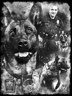 The organization has created 139 portraits in honor of fallen K-9s. (Photo/K9s United)