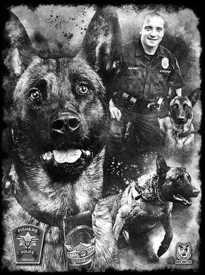 The organization has created 139 portraits in honor of fallen K-9s.