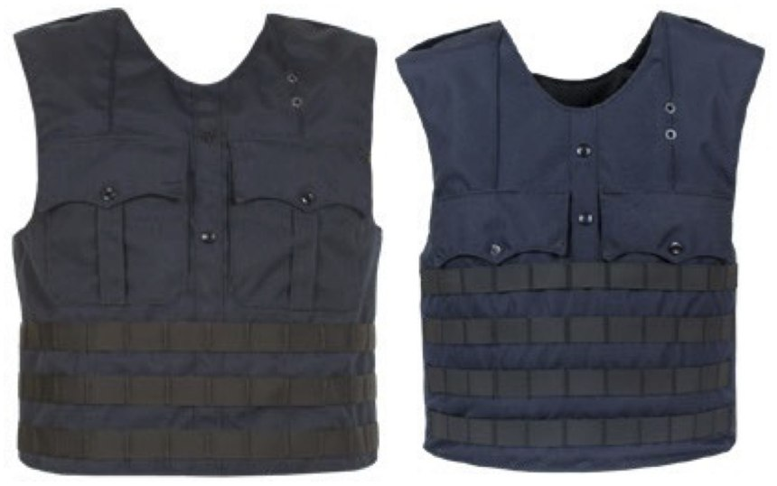 GH Armor sells multiple uniform load-bearing vests including the GH USC-M3 (left) and the GH USC-M.