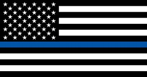 The thin blue line flag was created to show support for law enforcement.