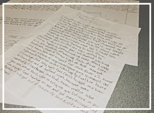 After 20 years, the letters from former students continue to pile up. (Photo/Linda Robson)