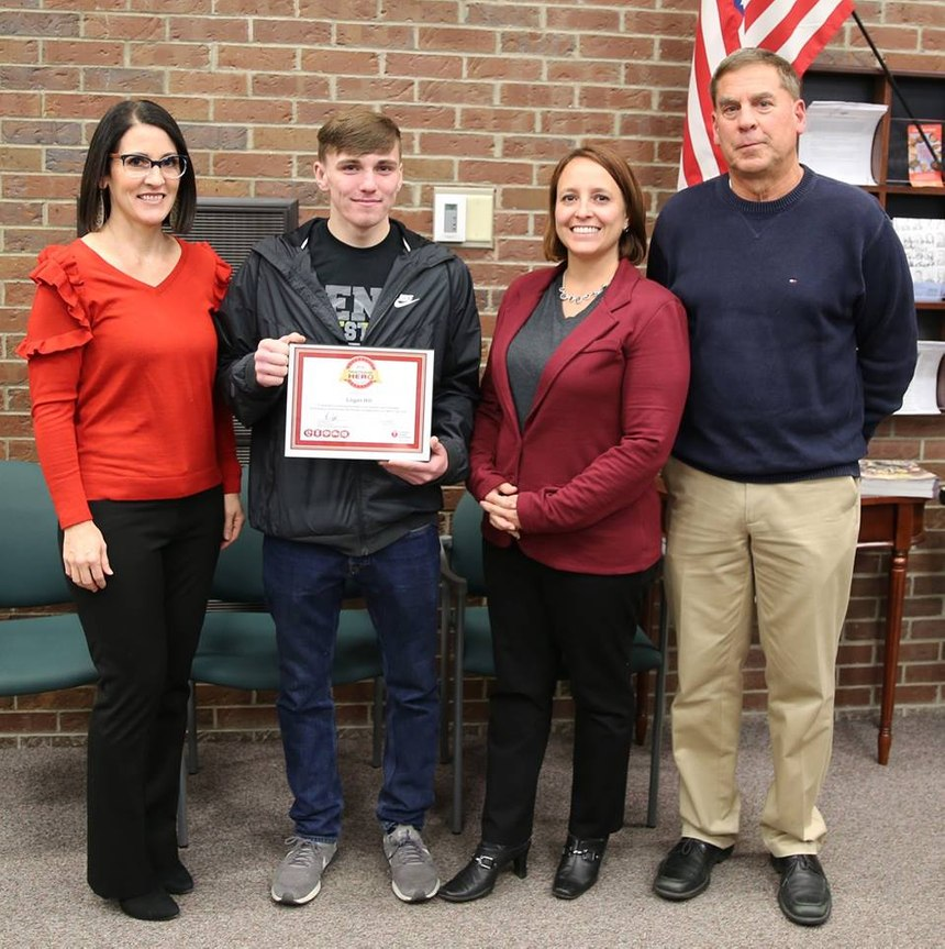 When Logan Hill learned how to do CPR two years ago at Penn High School, he never fathomed he'd be in a position to help save someone's life.