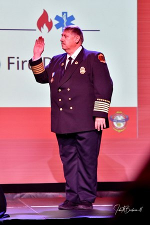 Fire Chief Gary Ludwig was sworn in as president of the IAFC, to take effect on Saturday, Aug. 10. (Photo/John M. Buckman III)