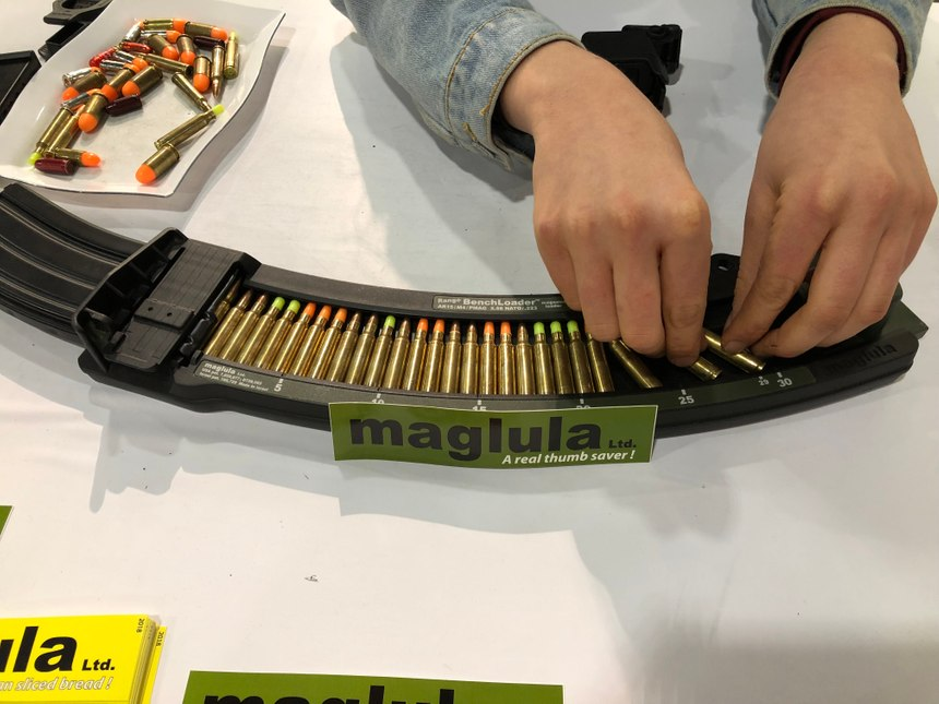 Maglula's new BenchLoader makes it easy to load 30 round magazines while preventing fingertip cuts.