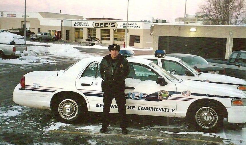 Come rain or shine, cops love working outdoors. (Photo/Dan Marcou)