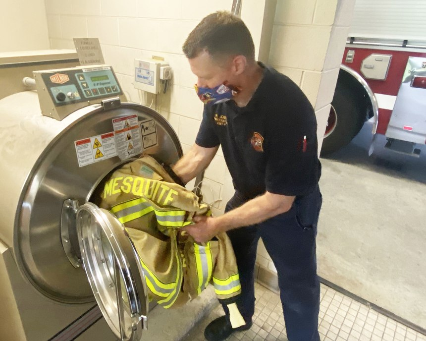 Each of the city's fire stations now has an extractor that's uniquely engineered to remove the cancer-causing carcinogens from bunker gear.