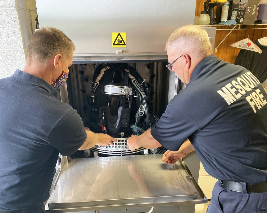 The department purchased a Solo Rescue Decon Washer to clean SCBA equipment.