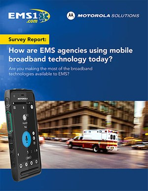 Survey report: How are EMS agencies using mobile broadband technology today? (white paper cover)