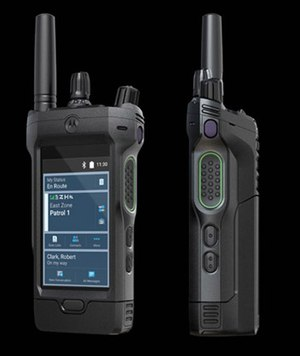 The new APX NEXT smart radio from Motorola Solutions features a rugged touchscreen designed to recognize and respond to an intentional touch command, even when wet or when the user is wearing gloves. (image/Motorola Solutions)