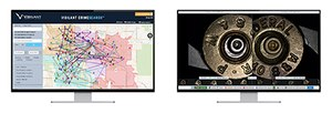 CrimeSearch maps forensic and investigative crime data, generating actionable intelligence (Left).Side-by-side view of 2 fired cartridgecasings, using BallisticSearch (Right)