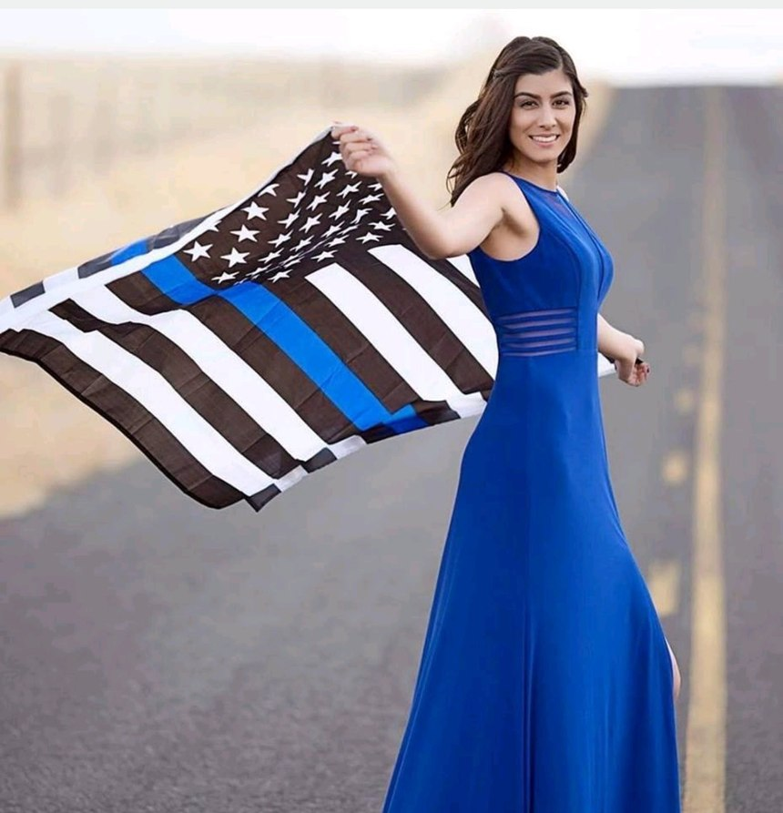 Officer Natalie Corona, whose father spent 26 years as a Colusa County Sheriff's deputy, graduated from the Sacramento Police Department's training academy in July and completed her field training just before Christmas. (Photo/ODMP)