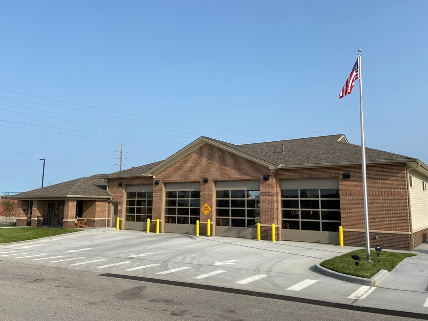 The St. Charles County Ambulance District's new station at Old Mill Parkway, St. Peters, Mo.
