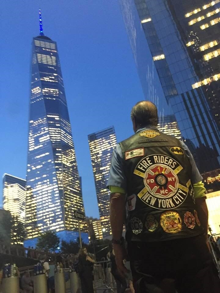Last year was the first time Denis had been to the WTC on 9/11. He plans to ride in again this year.