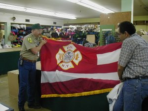 Siarnicki had a conversation with the president ofNational Flag & Displayabout flags and bunting needs for stations and the funerals. The company retooled overnight to accommodate the need and one-by-one provided the necessary ceremonial accoutrements. (Photo/NFFF)