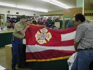 Siarnicki had a conversation with the president ofNational Flag & Displayabout flags and bunting needs for stations and the funerals. The company retooled overnight to accommodate the need and one-by-one provided the necessary ceremonial accoutrements.