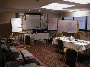 The Sheraton Towers Hotel in New York served as the NFFF Command Post.