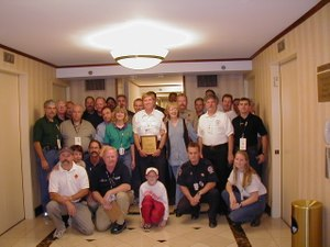 Members of the NFFF'sbehavorial health team that helped in New York. (Photo/NFFF)