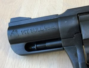 The 2.2-inch barrel is shrouded to protect the ejector rod and its integral front sight is serrated.