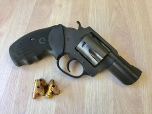 The Blacknitride+ finish provides the Charter Arms Pitbull with corrosion resistance.