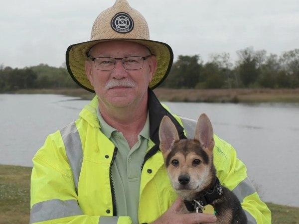 North Charleston Fire Department Captain Paul Bryant and Rocky. (Photo/North Charleston Fire Department Facebook)