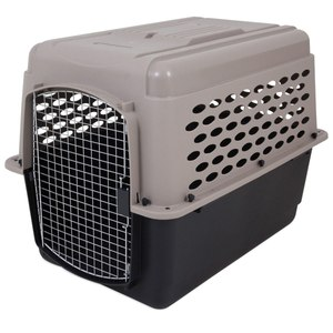 Protect your dog in transit with a sturdy kennel designed for safe, secure transport.