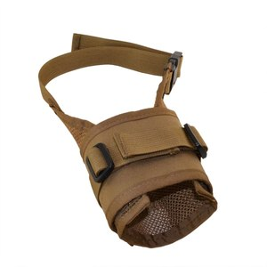 An adjustable muzzle like the RAM Mesh Muzzle allows you to fit the muzzle to different dogs or adjust as your dog grows.