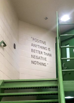A quote painted on the wall inside the Yavapai County jail's mental health unit.