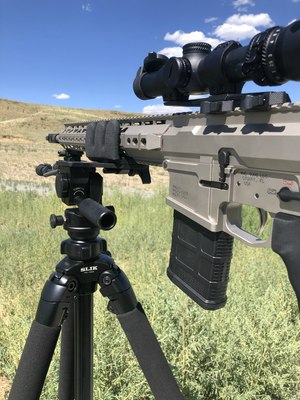 The offset mount makes reloading easy. (Photo/Pete Goode)