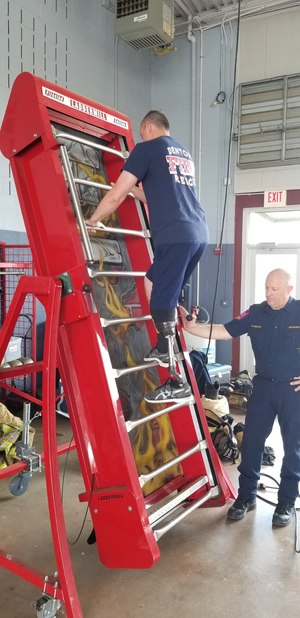 Denton (Texas) Fire/Rescue Department officials were amazed at the speed at which Firefighter Gary Weiland recovered after his amputation.
