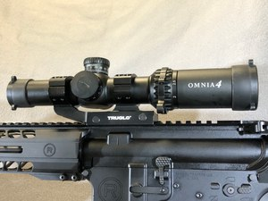 The Truglo Omnia is made in China. It is an outstanding, inexpensive optic that comes with its own rail mount and caps.