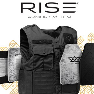 Angel Armor's external armor carrier offers all-day rifle protection.