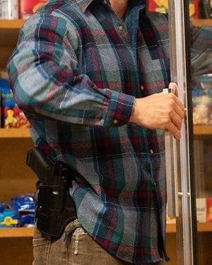 The belt slide holster features Safariland's unique ALS locking retention system.