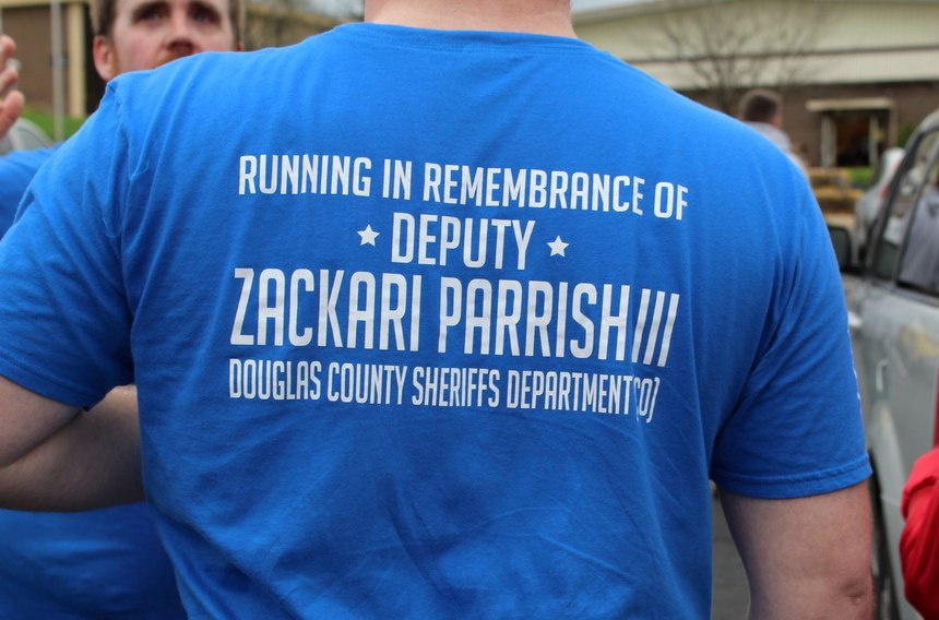 McBride is urging everyone to mark April 4, which would have been the date of the Badge of Honor run, to post a sign at their home in honor of a first responder. (Photo/Seth McBride)