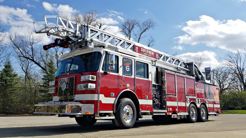 The aerial is also capable of 108 feet of vertical reach and 98 feet, 8 inches of horizontal reach.