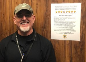 RCSD Special Deputy W. Thomas Smith Jr., a formerly deployed U.S. Marine infantryman, created a PTSD awareness document that features a series of explanatory emojis. (Photo/RCSD)