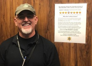 RCSD Special Deputy W. Thomas Smith Jr., a formerly deployed U.S. Marine infantryman, created a PTSD awareness document that features a series of explanatory emojis.