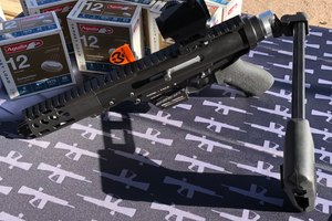 The TAC-9 is a modular system that supports 9mm, .40cal, .45ACP and 10MM.